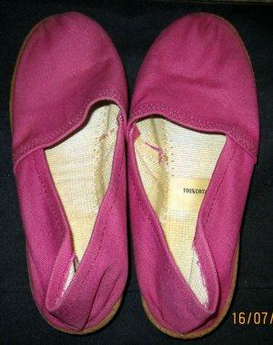 Espadrilles/Canvasslipper*Orginal 80er Jahre*magenta/pink-Gr.37-neuwertig
