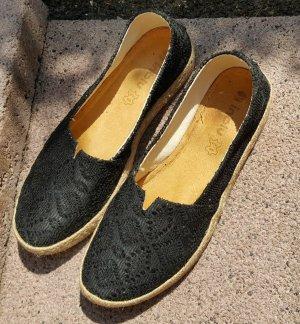 inblu Sandalo comodo nero-argento Pelle