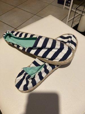 H&M Divided Slip-on Shoes white-dark blue