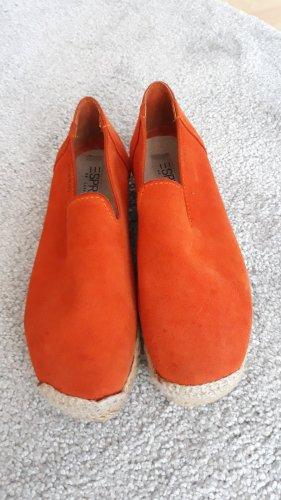 Espadrilles Leder orange