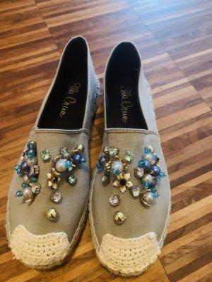 Espadrilles mit Perlen Steinen Sandalen