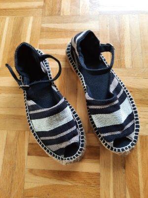 Unbekannte Marke Espadrille Sandals black-oatmeal
