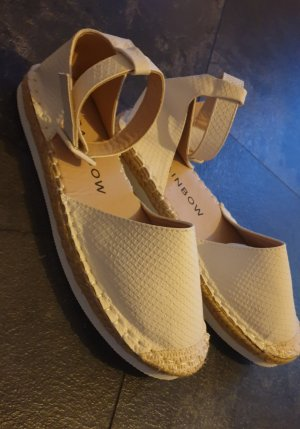 Rainbow Espadrille blanc-marron clair