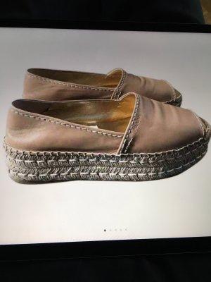 Prada Slip-on Sneakers beige leather