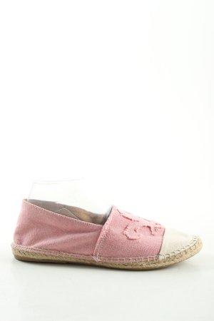 Espadrillas rosa-bianco sporco stile casual