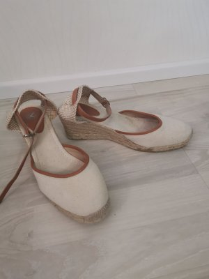 Espadrilles-Sandalen mit Keilabsatz