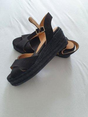 Castañer Espadrille sandalen zwart Gemengd weefsel