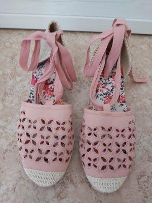 Espadrilles-Sandaletten mit Keilabsatz