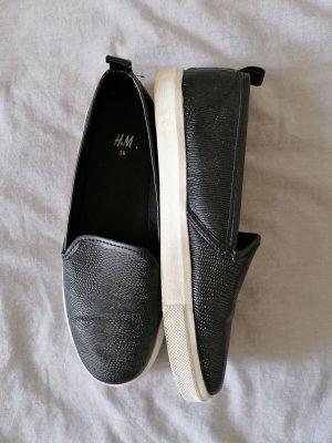 H&M Pantoffels wit-zwart
