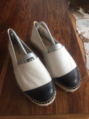 Espadrilles von Espadrij Leder weiß schwarz Gr 40 wie neu