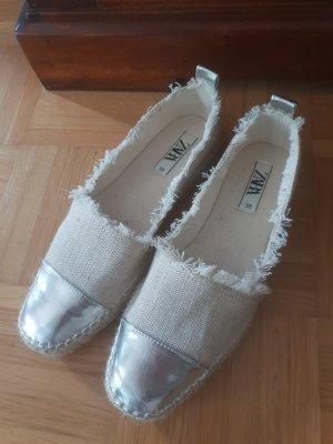 Zara Espadrille sandalen zilver-wolwit