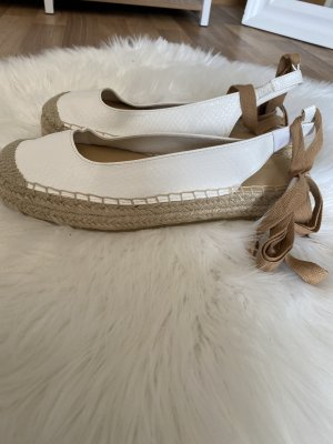 Just Fab Alpargatas blanco-crema