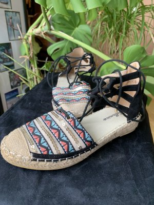 Bellamica Espadrille sandalen zwart