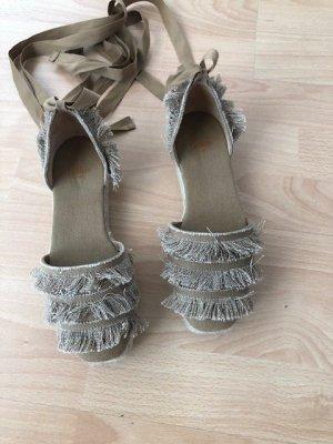 Castañer Espadrille sandalen zandig bruin Katoen