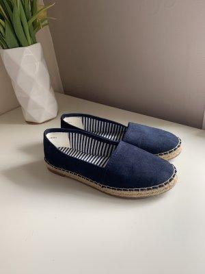 Espadrille sandalen donkerblauw