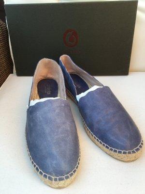 Espandrilles - jeansblau - Leder - 40