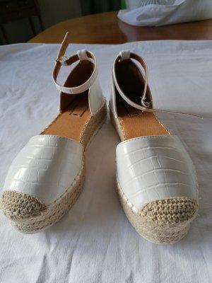 ideal shoes Alpargatas blanco