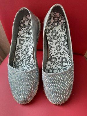 Claudia Ghazzani Espadrille Sandals silver-colored