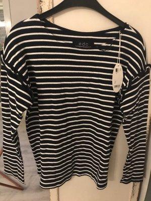 Edc Esprit Camicia maglia blu scuro-bianco