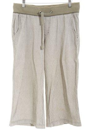 Esprit 3/4-Hose weiß-khaki Streifenmuster Casual-Look