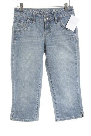Esprit Jeansy 3/4 biały-błękitny Melanżowy W stylu casual