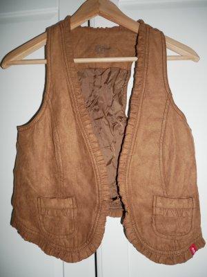 Esprit Kamizelka ze sztucznym futrem brązowy