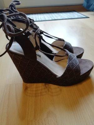 Esprit Platform High-Heeled Sandal taupe-dark brown