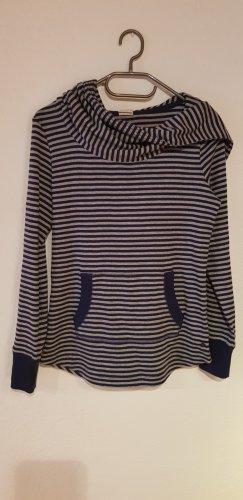 Edc Esprit Maglione con cappuccio grigio chiaro-blu scuro