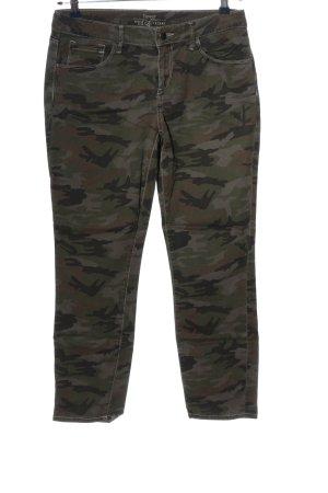 Esprit Jeans 7/8 kaki motif de camouflage style décontracté