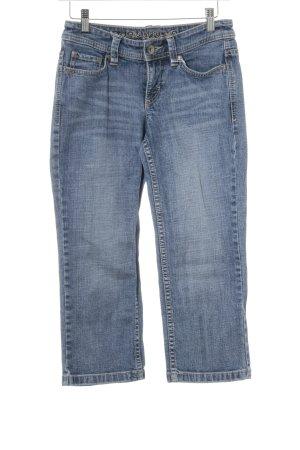 Esprit Jeansy 7/8 niebieski-szary niebieski Siateczkowy wzór W stylu casual