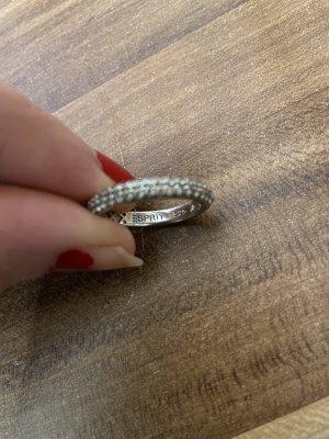 Esprit 925 Silberring gr 18/57 Fehlen zwei kleine Steine ist aber nicht auffällig