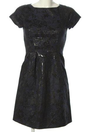 Esprit A-Linien Kleid blau-schwarz Allover-Druck Elegant