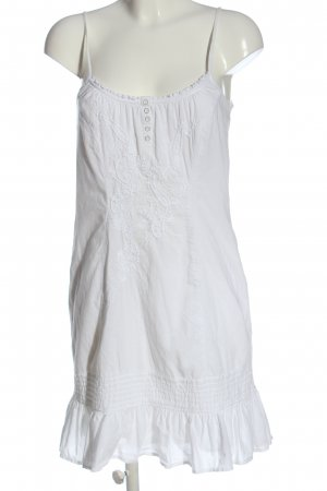 Esprit Vestido línea A blanco look casual