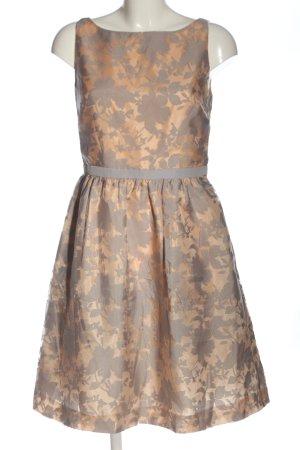 Esprit A-Linien Kleid wollweiß-hellgrau Blumenmuster Elegant