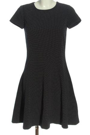 Esprit A-Linien Kleid schwarz-weiß Punktemuster Casual-Look