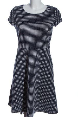Esprit A-Linien Kleid blau-weiß Karomuster Casual-Look
