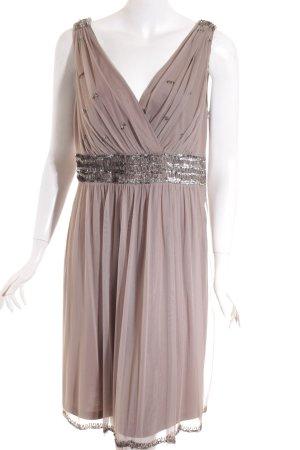 Esprit A-Linien Kleid hellbraun-silberfarben Elegant
