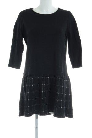 Esprit A-Linien Kleid schwarz Karomuster Casual-Look