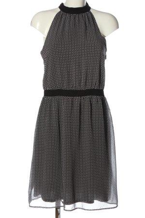 Esprit A-Linien Kleid schwarz-weiß Allover-Druck Casual-Look