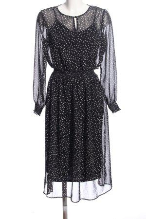 Esprit Abendkleid schwarz-weiß Punktemuster Casual-Look