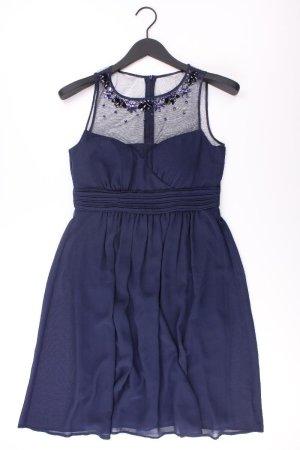 Esprit Abendkleid Größe 36 Träger mit Pailletten blau aus Polyester
