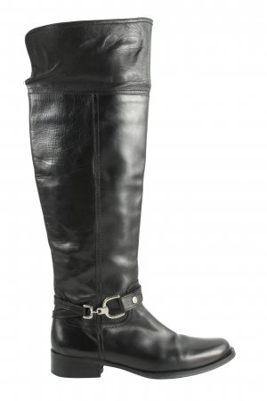 Esprit Absatz Stiefel schwarz-silberfarben Business-Look
