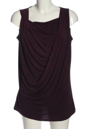 Esprit ärmellose Bluse lila Casual-Look