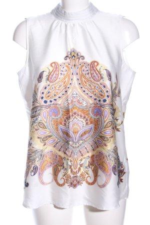 Esprit ärmellose Bluse abstraktes Muster Elegant