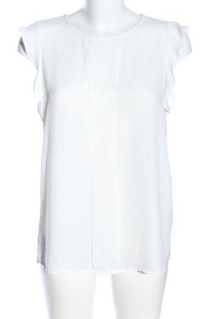Esprit ärmellose Bluse weiß Elegant