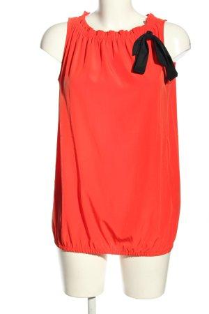 Esprit ärmellose Bluse rot-schwarz Elegant
