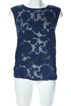 Esprit Blusa sin mangas azul estampado floral look casual