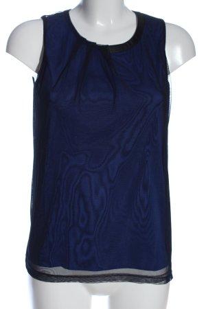 Esprit ärmellose Bluse blau Casual-Look
