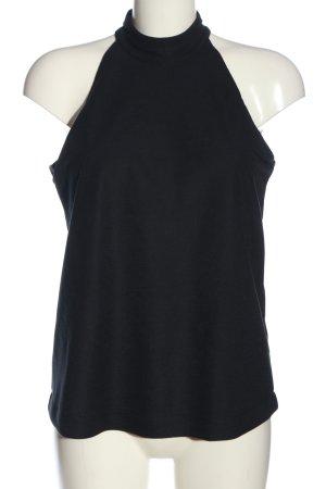 Esprit ärmellose Bluse schwarz Casual-Look