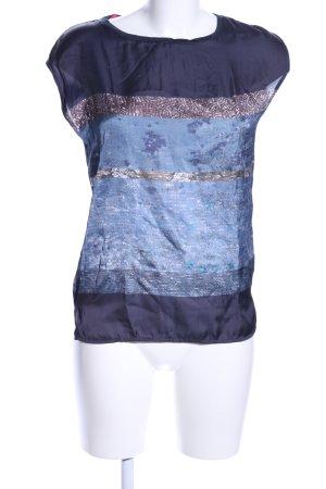 Esprit ärmellose Bluse abstraktes Muster Casual-Look